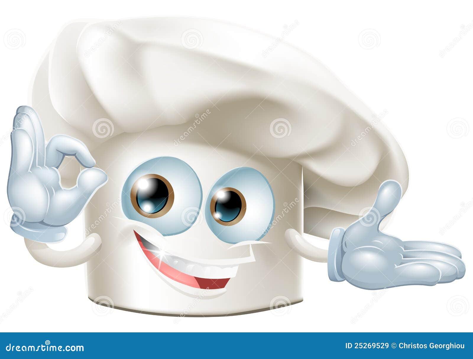 De mens van de de hoedenmascotte van bakkers