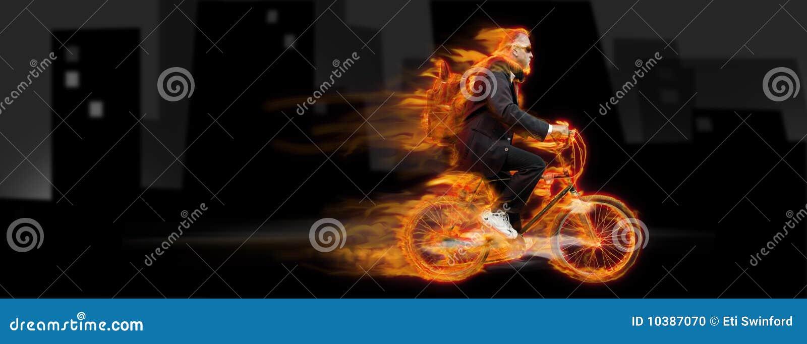 De mens van de fiets