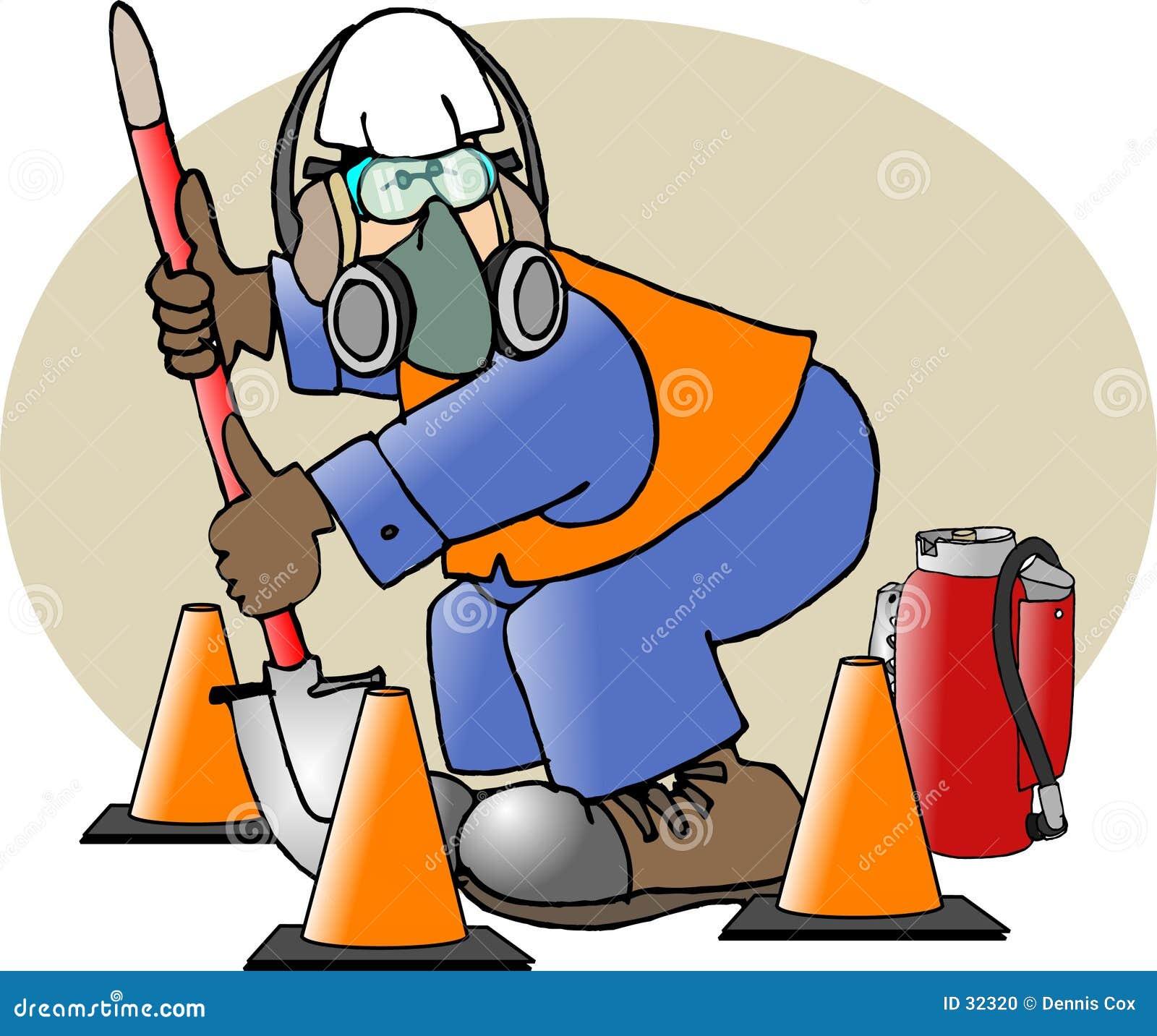De Mens van de Veiligheid van de bouw