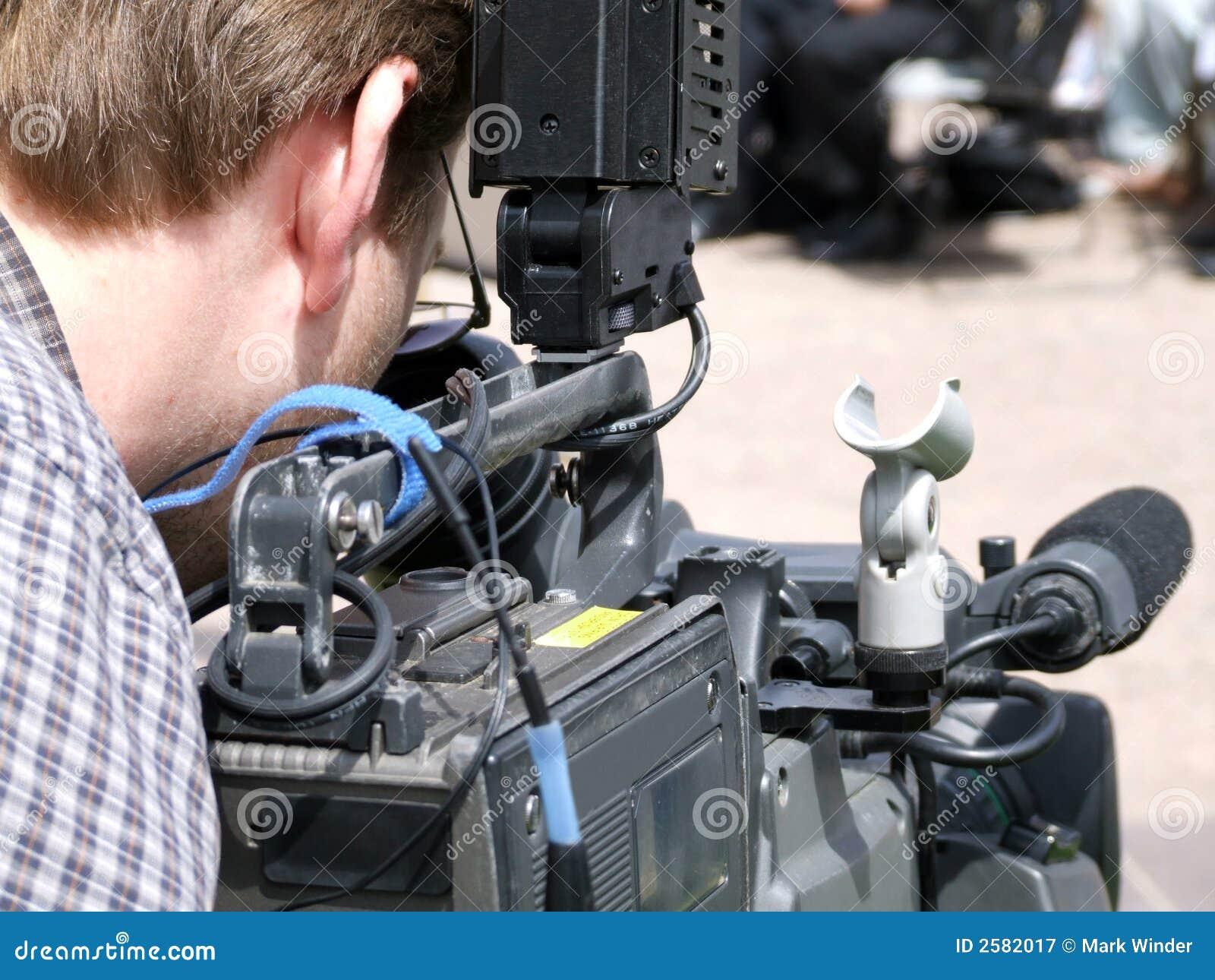 De Mens van Videographer/van de Camera