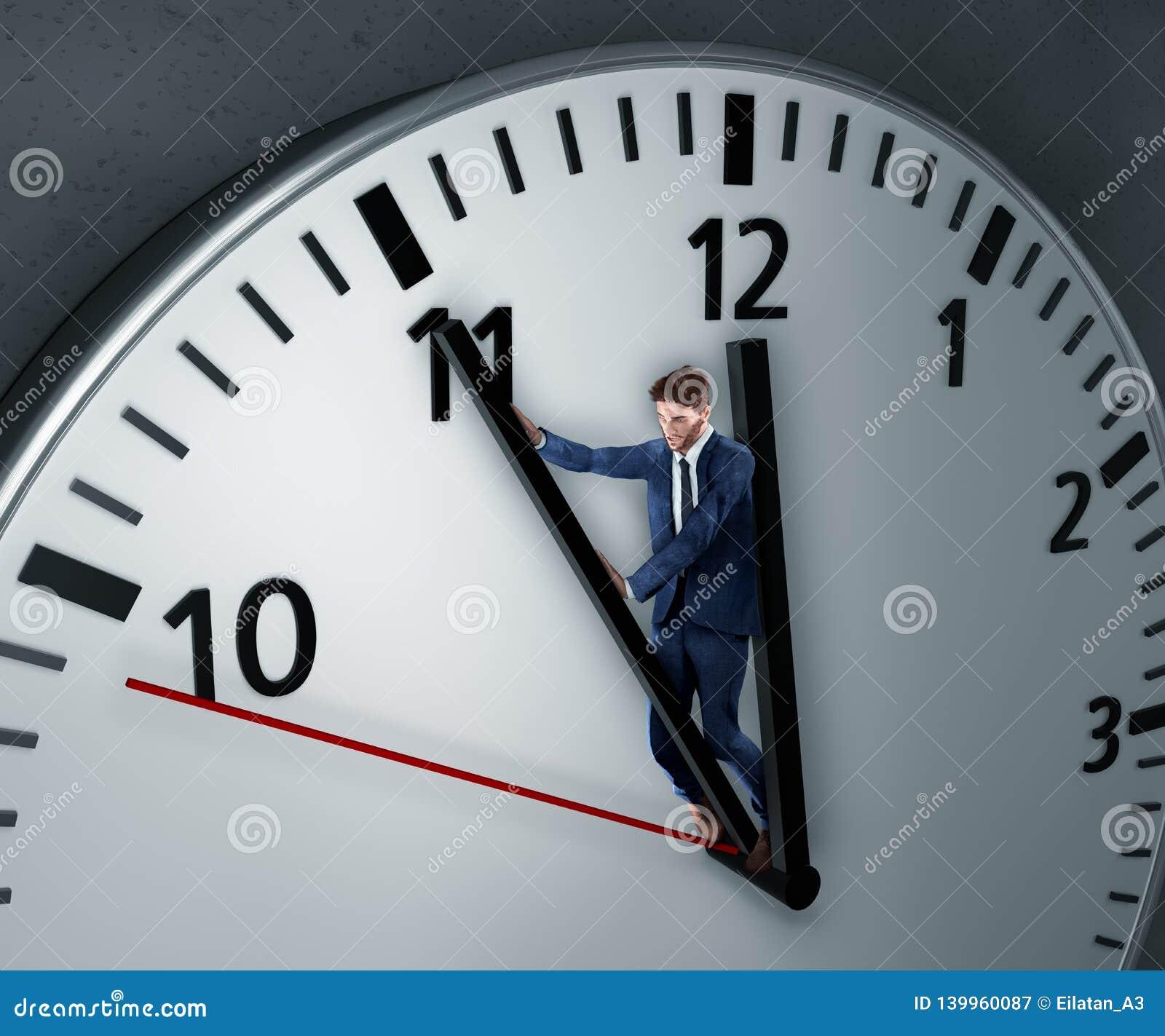 De mens vecht voor meer tijd