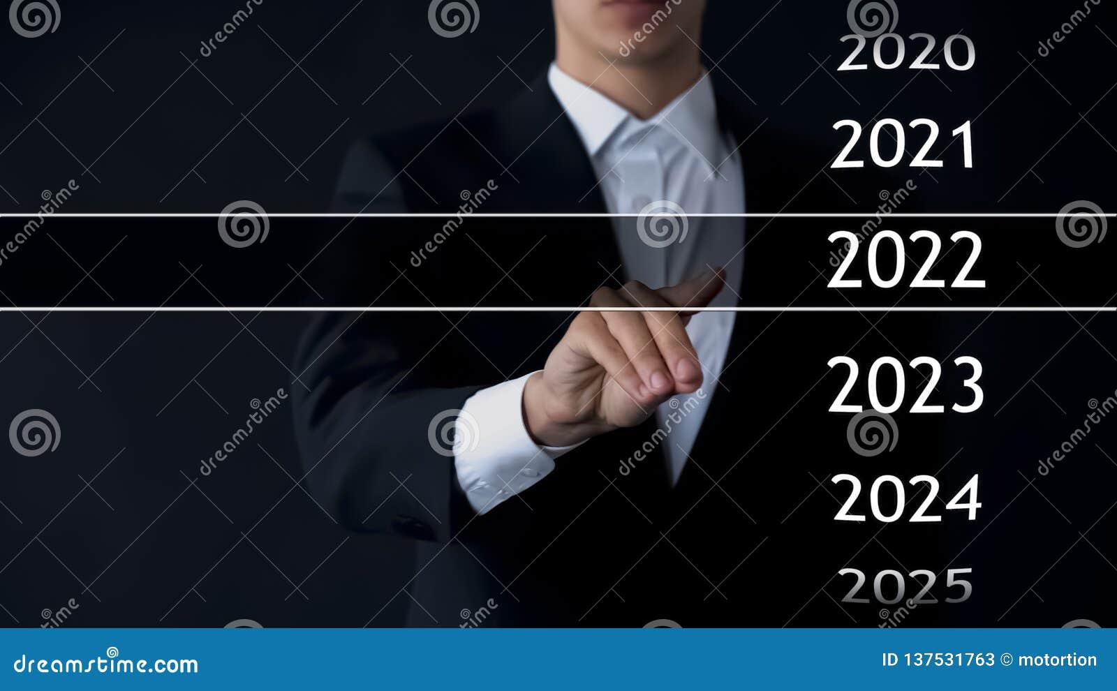 De mens vindt het jaar van 2022 in virtueel archief, inzameling van statistieken, jaarverslagen