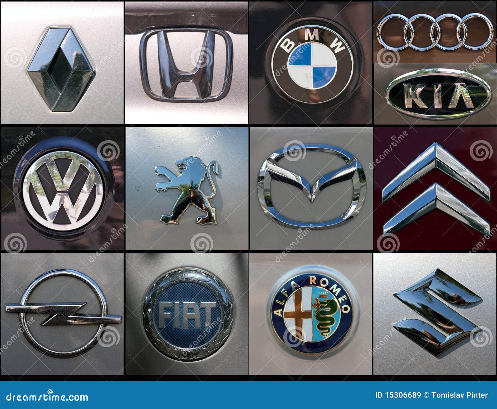 De Merkencollage Van De Auto Redactionele Stock Afbeelding