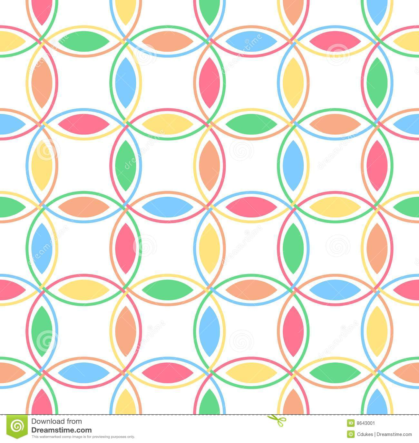 De Met elkaar verbindende Cirkels van de pastelkleur