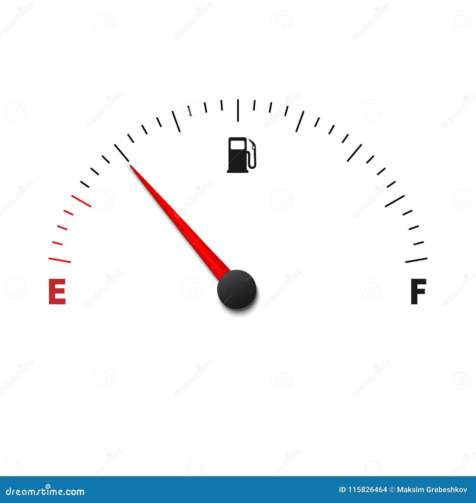 De meter van de brandstofmaat