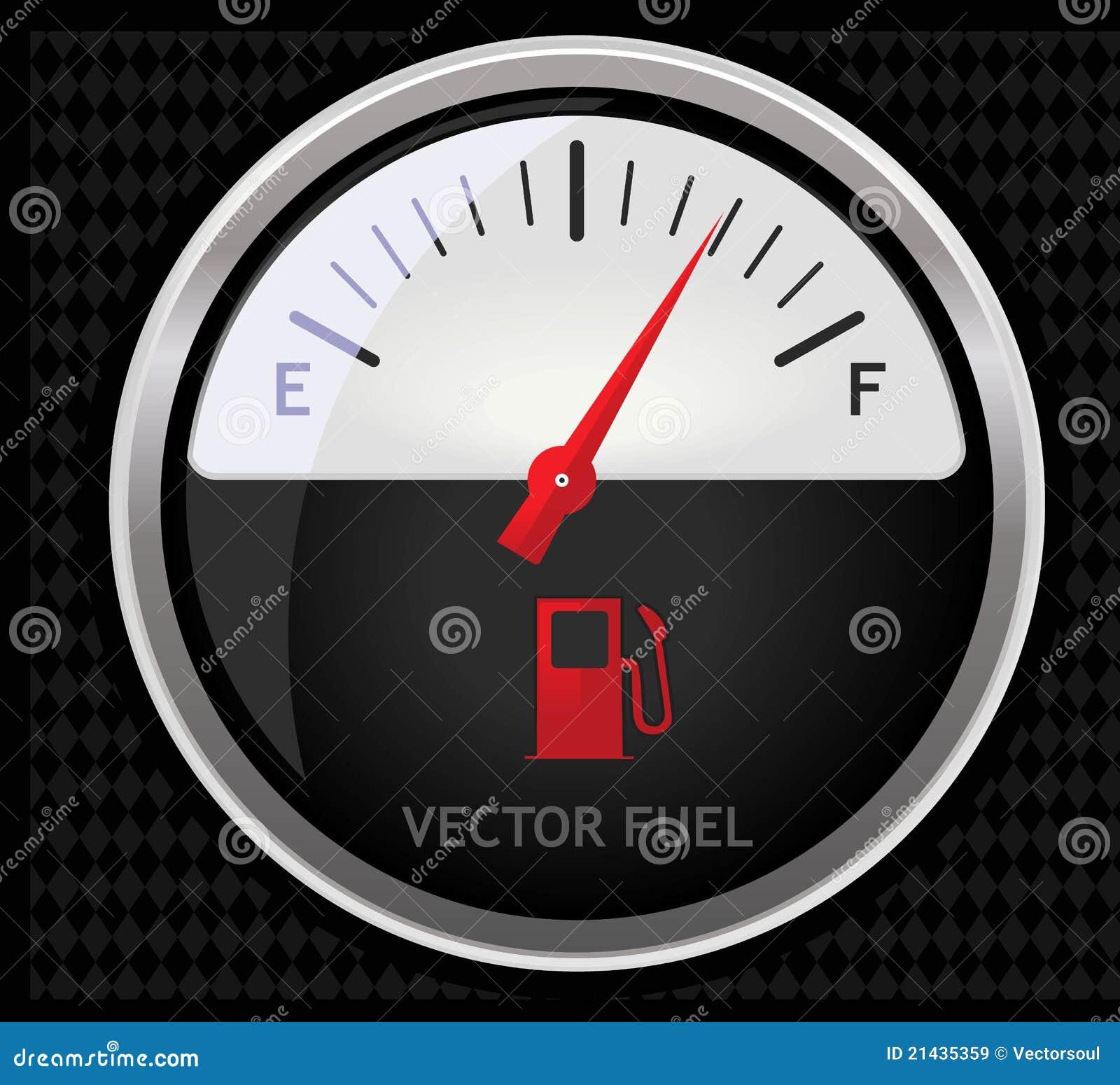 De meter van de brandstof