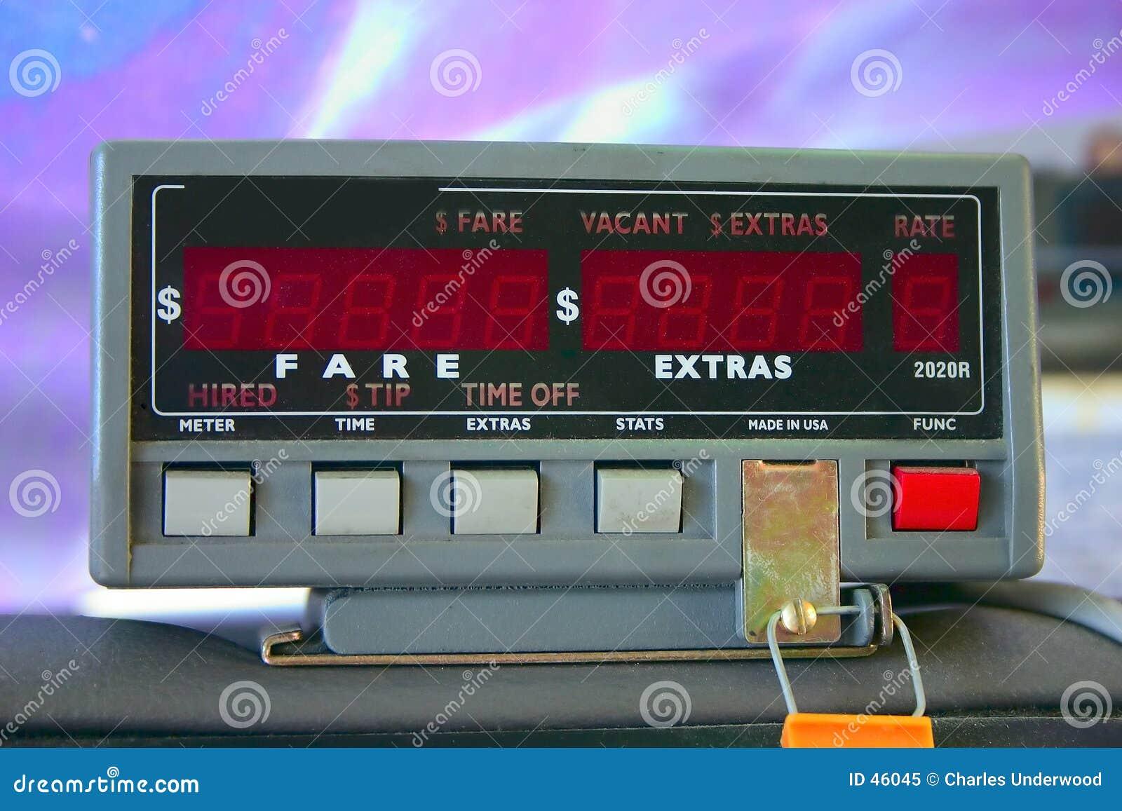 De Meter van de taxi