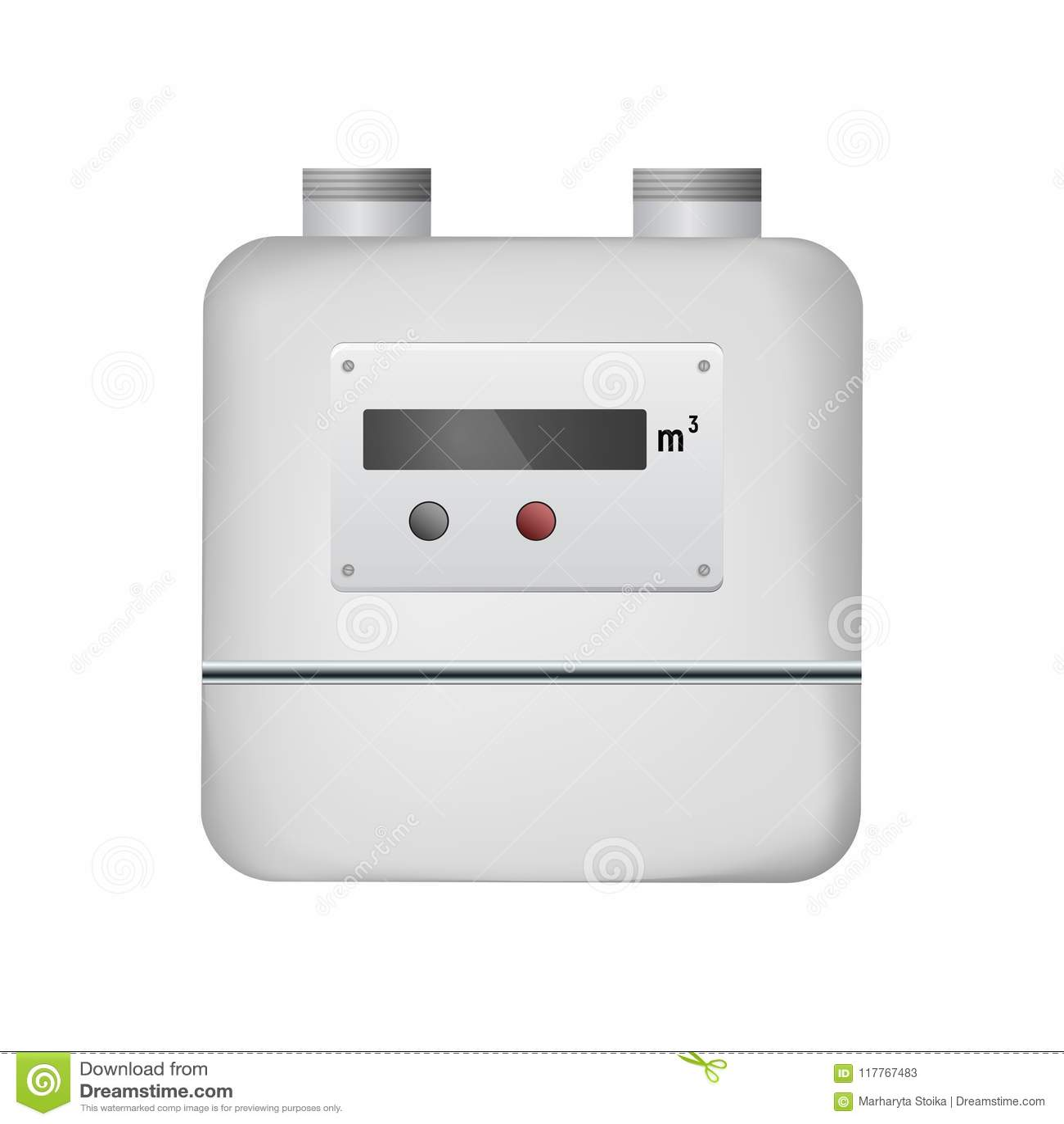 De meter van het gas