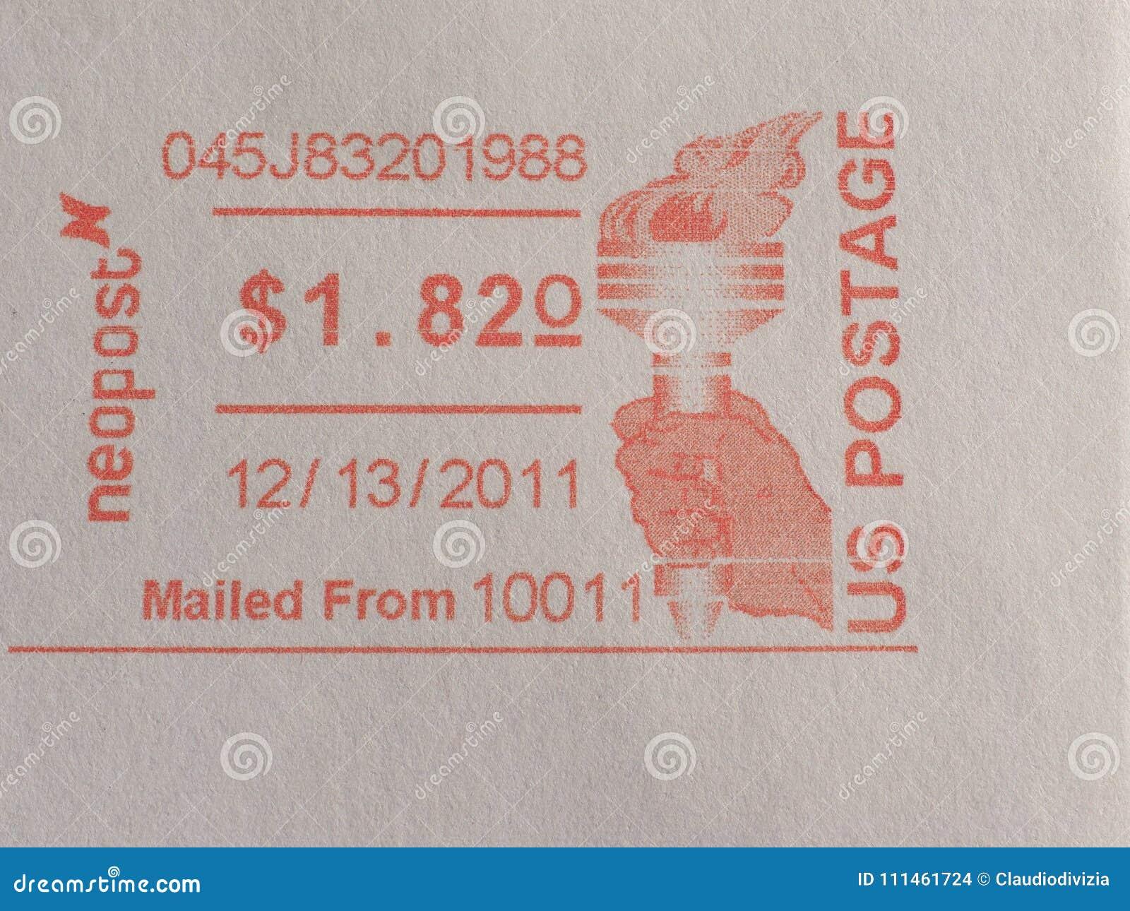 De meter van de postport in New York