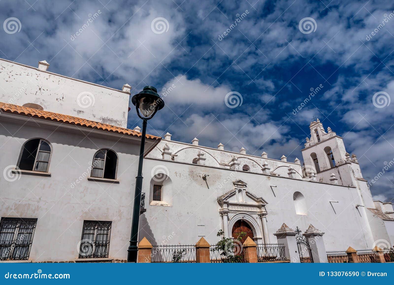 De Metropolitaanse Kathedraal bij Sucre, Bolivië