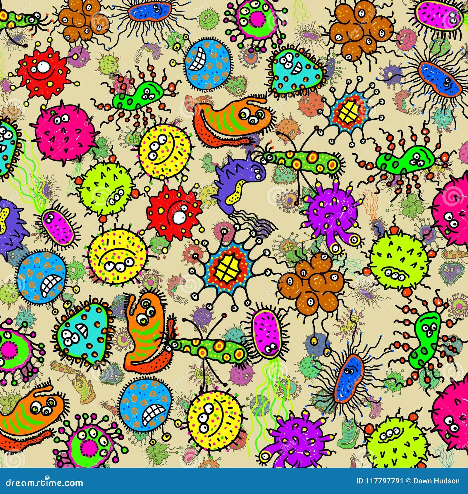 De microscopische Bacteriële Achtergrond van de Krabbelkiem
