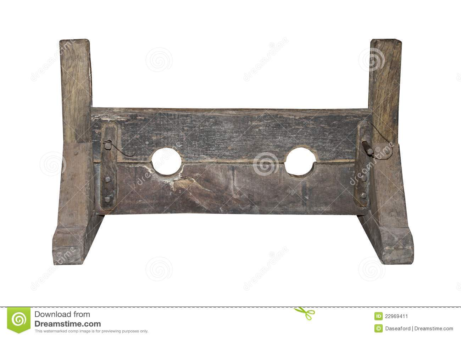 De middeleeuwse Voorraden van de Straf.
