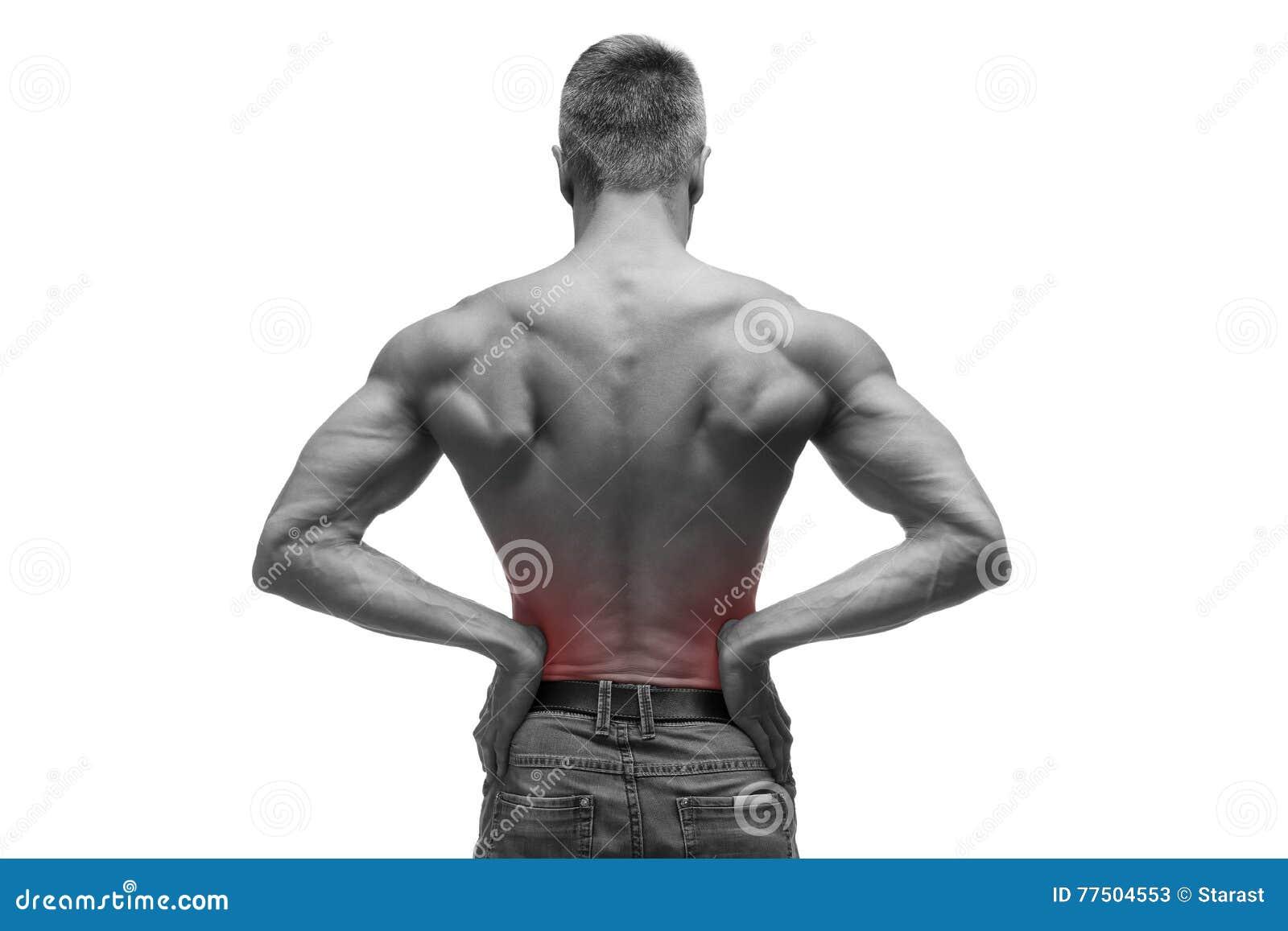 De Midden Oude Mens Met Pijn In De Nieren, Spier Mannelijk Lichaam ...