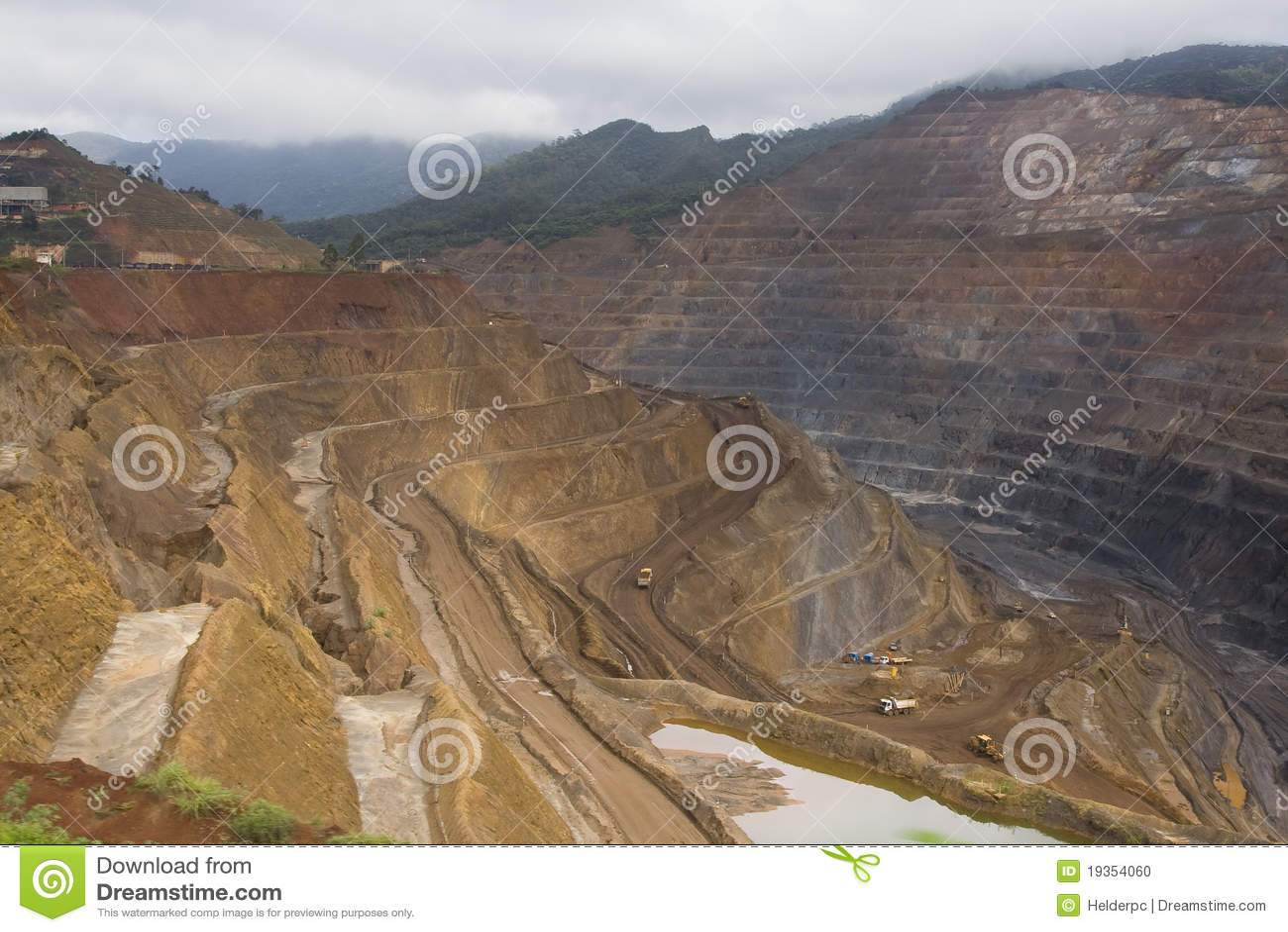 De mijnbouw van het erts