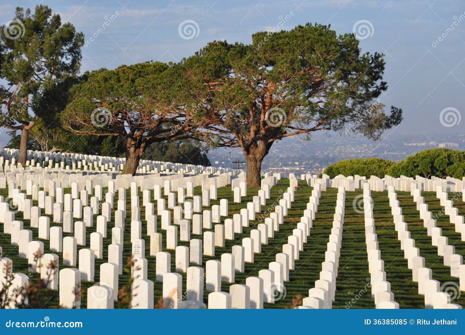 De Militaire Begraafplaats van Verenigde Staten in San Diego, Californië