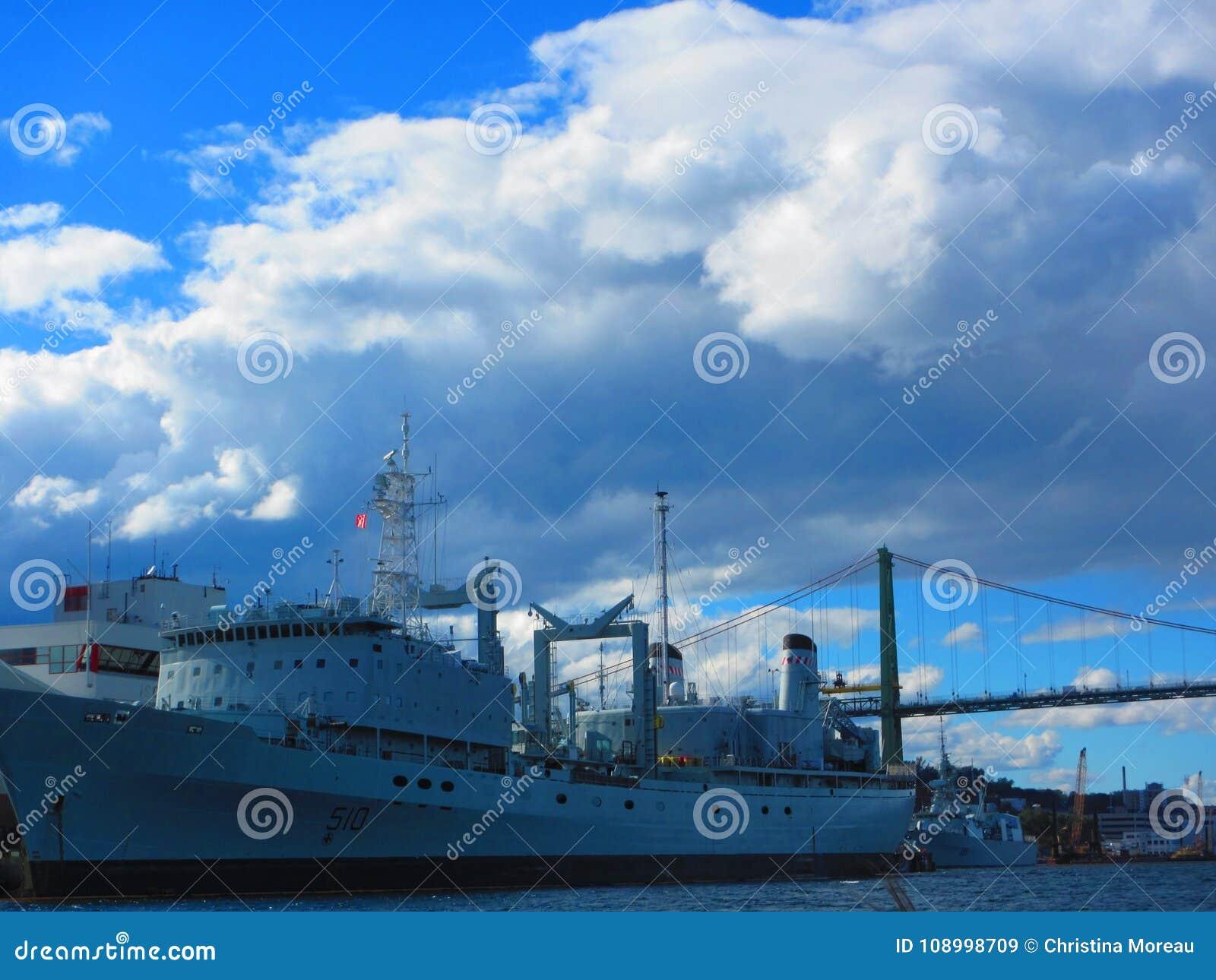 De militaire haven van schiphalifax
