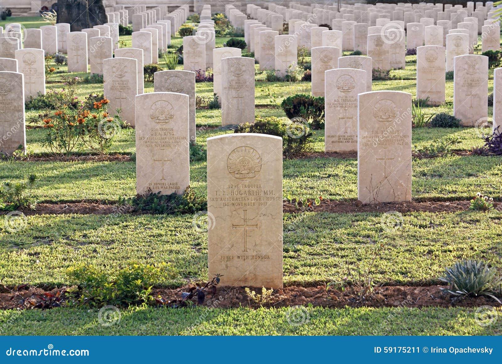 De militaire korpsen van de begraafplaats Australische cavalerie sinds de Eerste Wereld