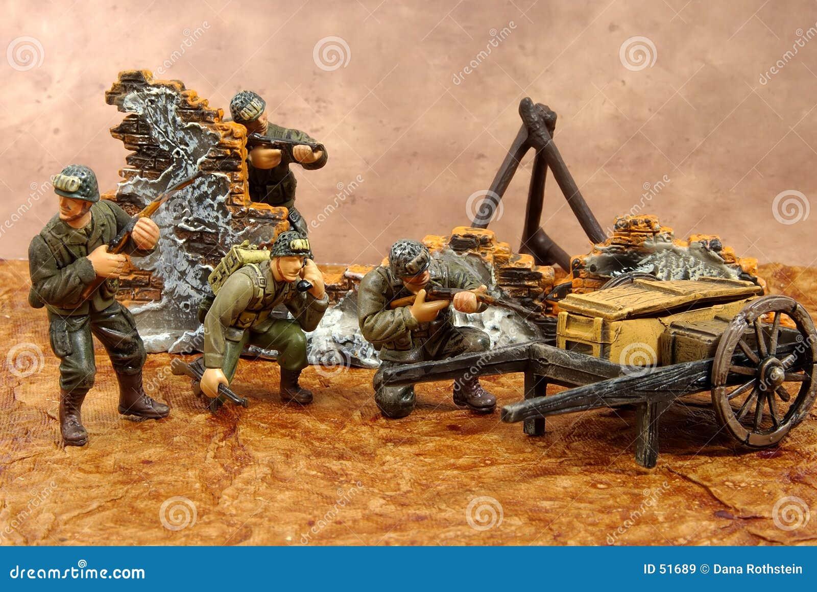 De Militairen van het stuk speelgoed