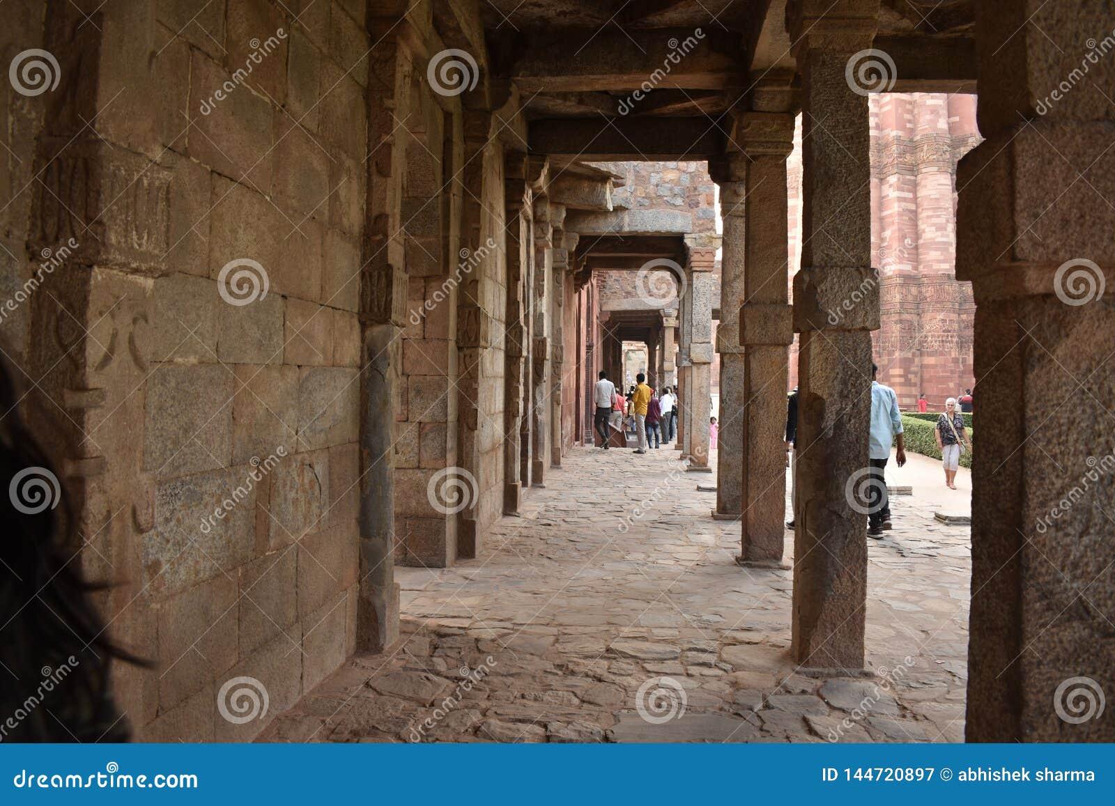 De minaret van Qutubminar in Delhi, India