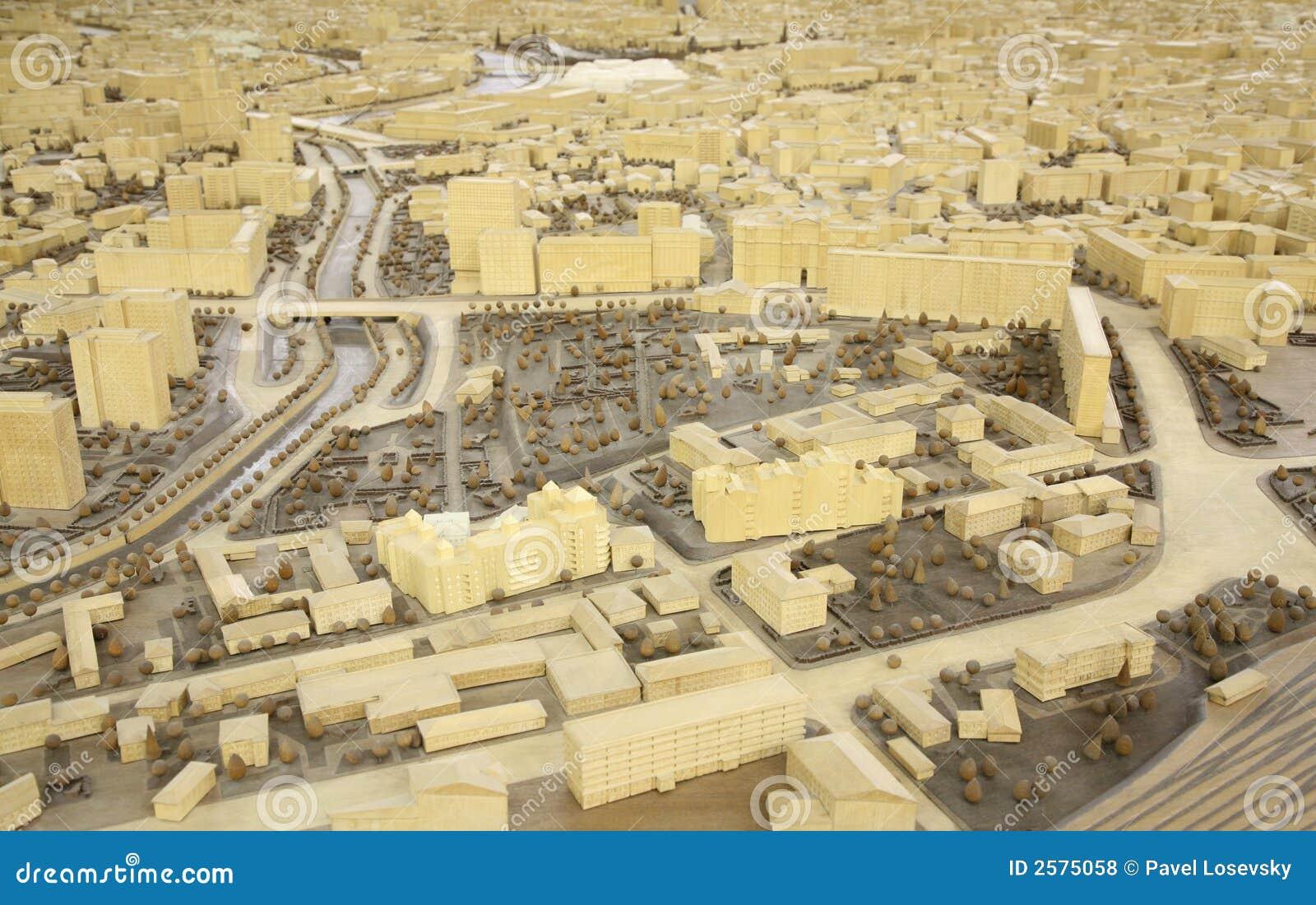 De miniatuur van de stad