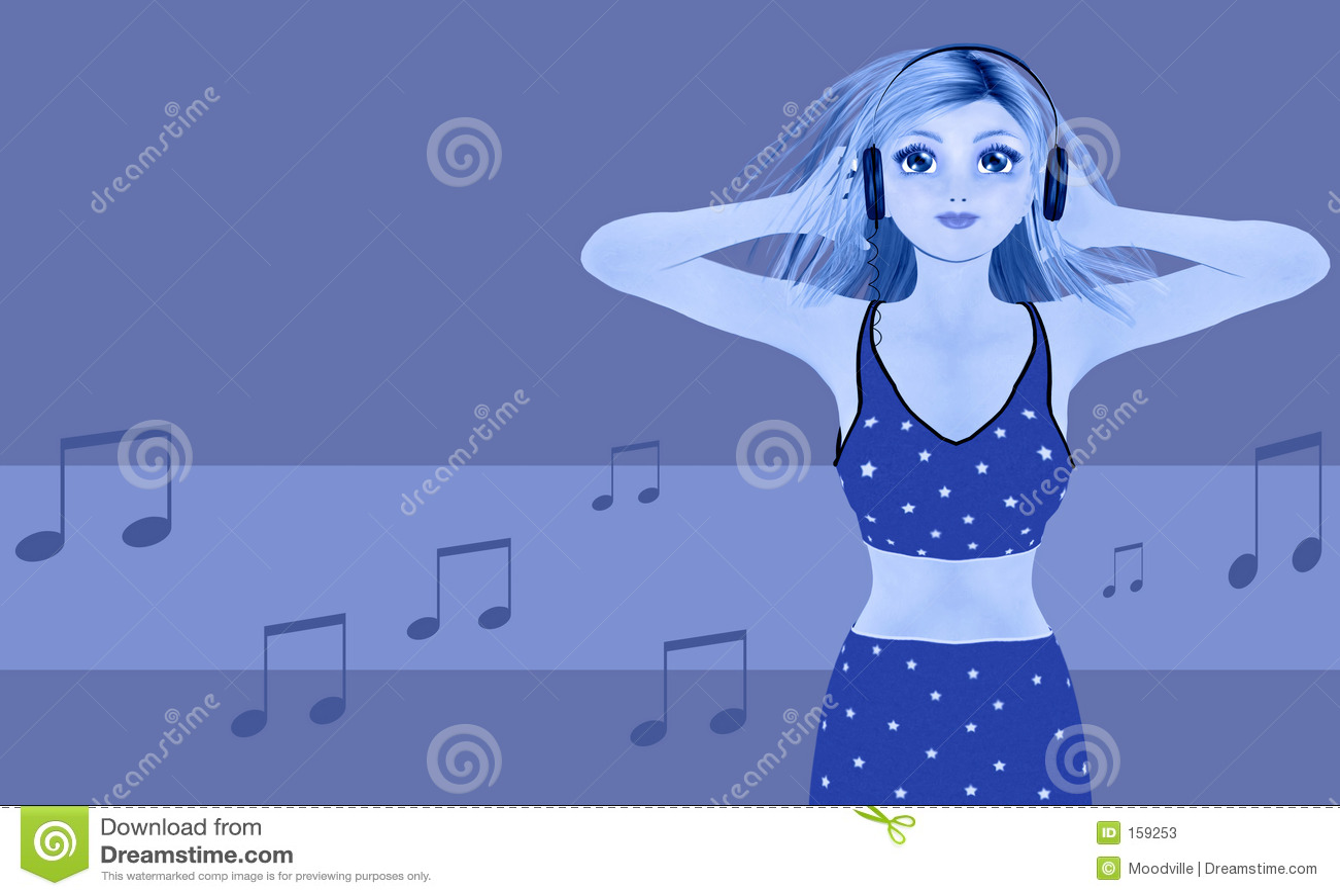 De minnaar van de muziek