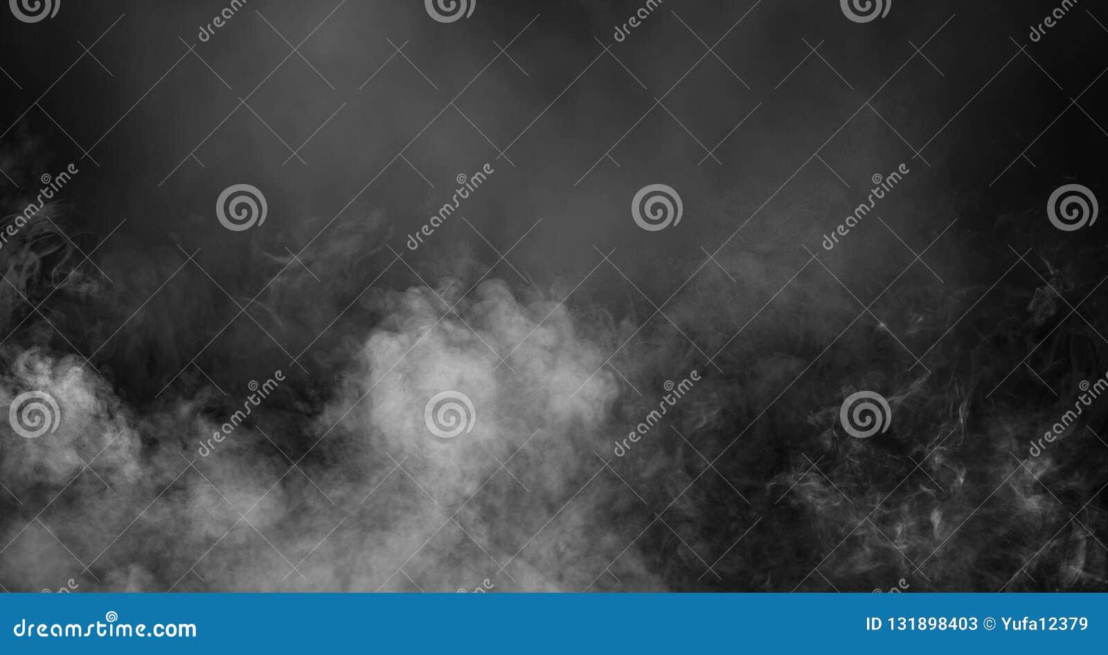 De mist of de rook isoleerde speciaal effect Witte troebelheid, mist of smogachtergrond