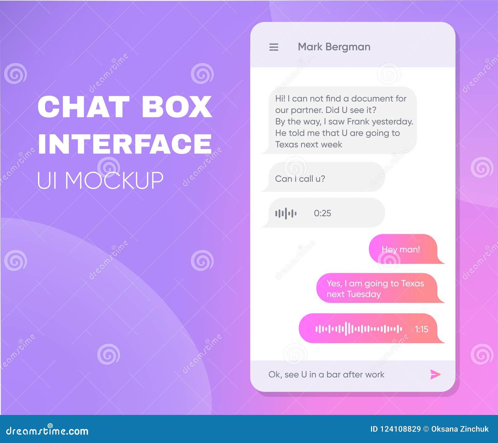 De mobiele dozen van het telefoon levende praatje Smartphone online app In Chatbot-Toepassing met Dialoogvenster Smsboodschapper
