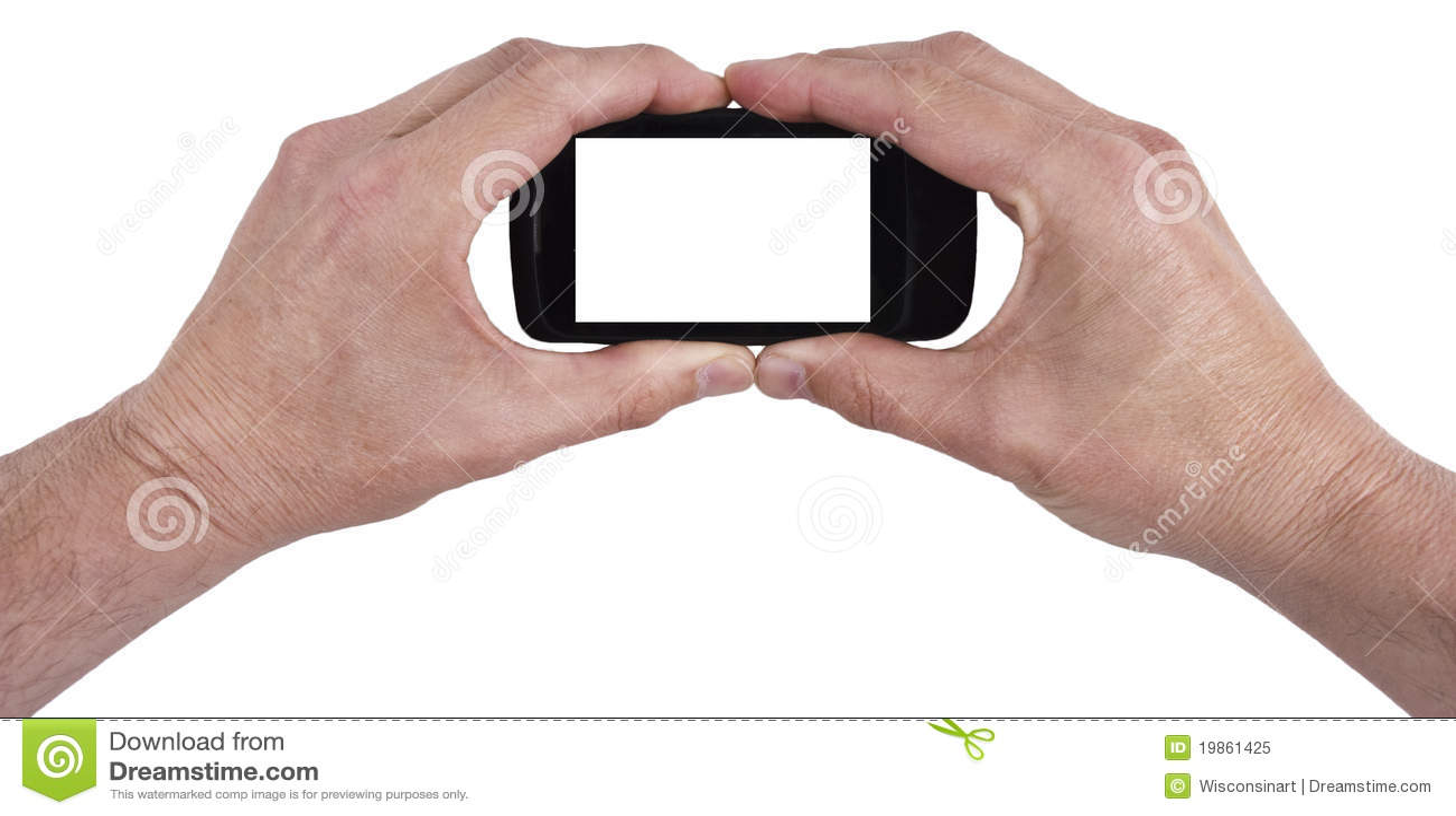 De mobiele Slimme hier Geïsoleerded Telefoon van de Cel, Uw Tekst