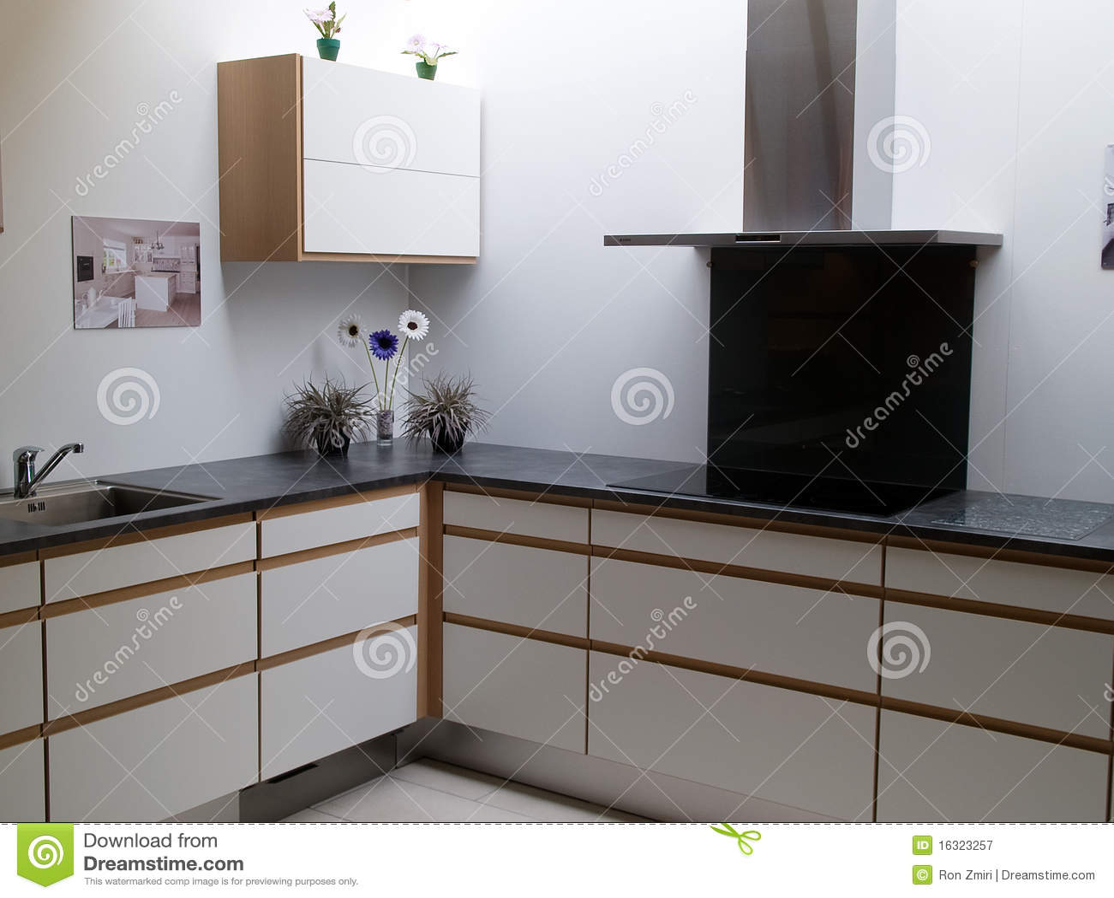 De moda modernos limpian la cocina de madera del dise o - Cocina diseno moderno ...
