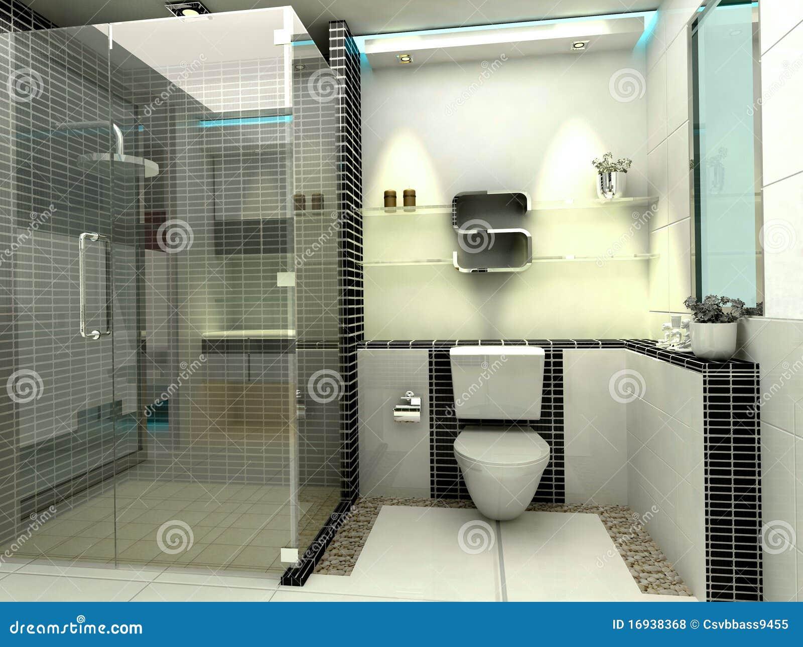 De Moderne Badkamers Van De Luxe Stock Illustratie - Illustratie ...