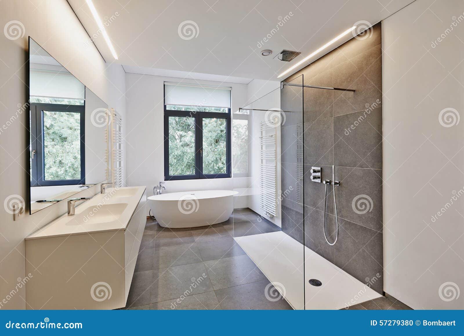 De moderne badkamers van de luxe stock foto afbeelding 57279380 - Moderne luxe badkamer ...