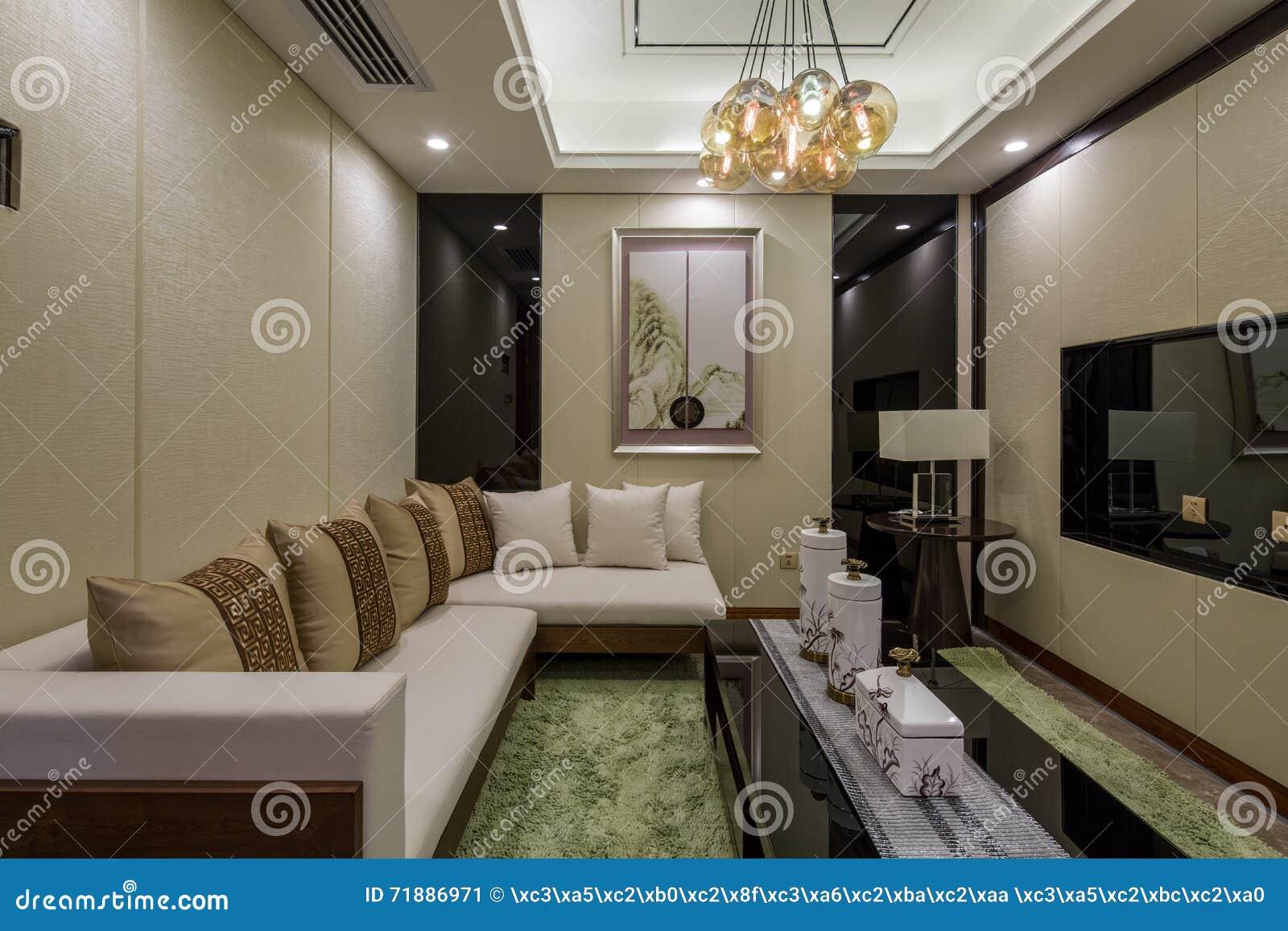 De moderne decoratie van de het ontwerpwoonkamer van het luxe