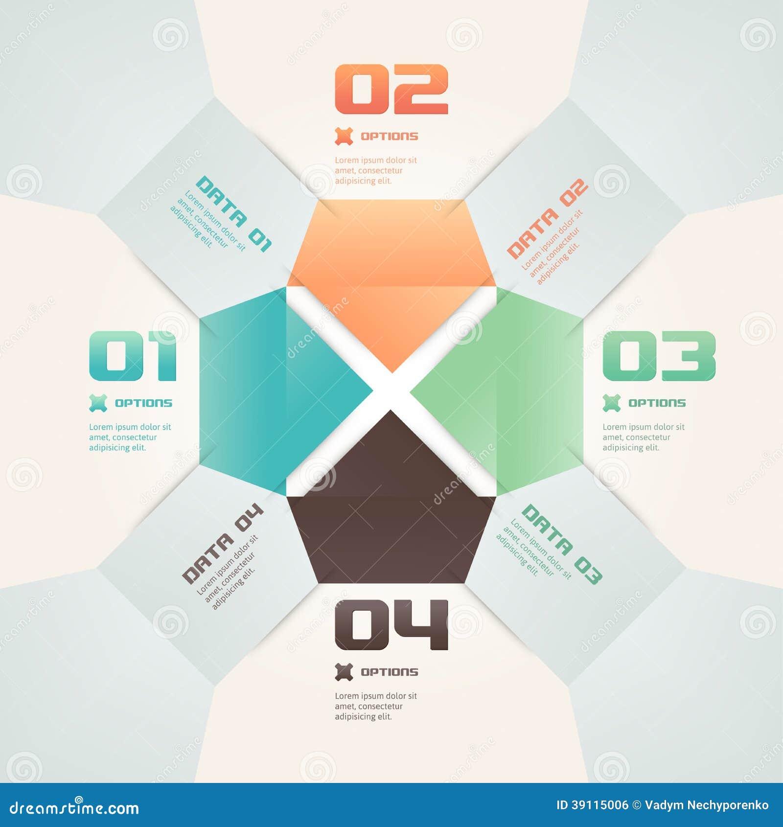 De moderne Illustratie van Infographic van de Origamistijl