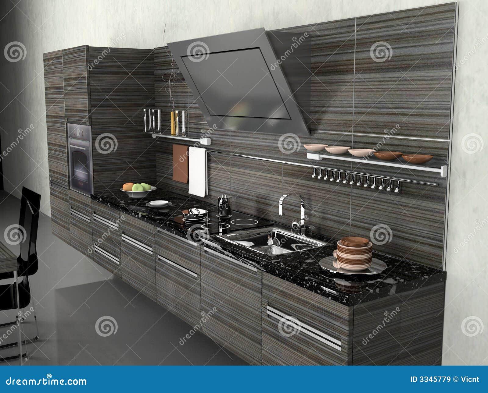 De moderne keuken royalty vrije stock afbeeldingen afbeelding 3345779 - De moderne keukens ...
