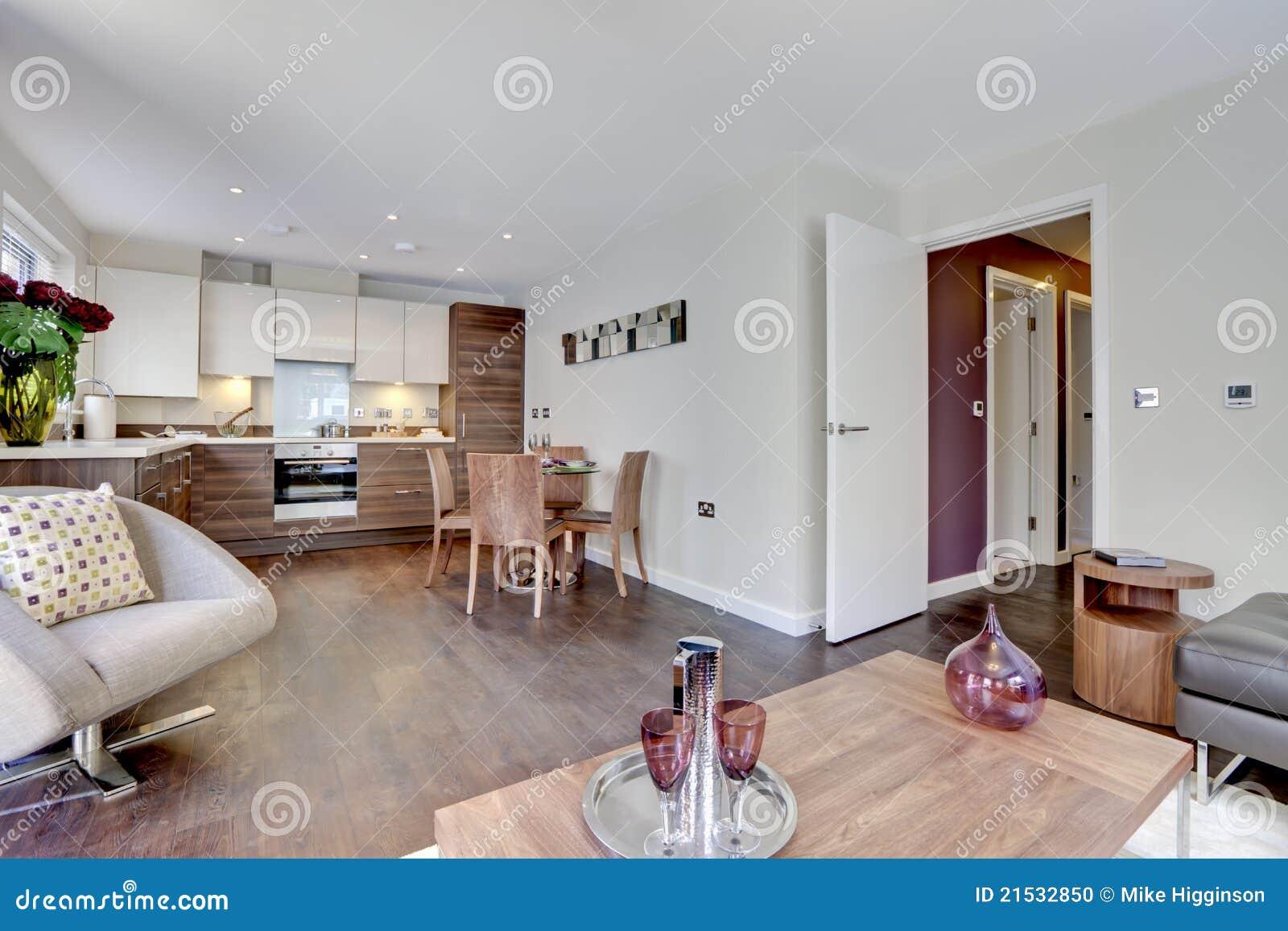 De moderne keuken van de luxe en familieruimte stock foto ...