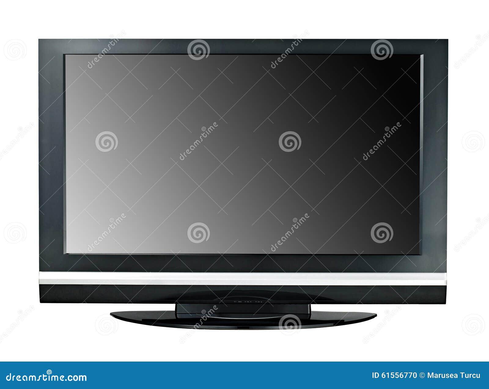 De Moderne Lcd Ge Soleerde Monitor Met Groot Scherm Van Tv Stock  # Television Moderne