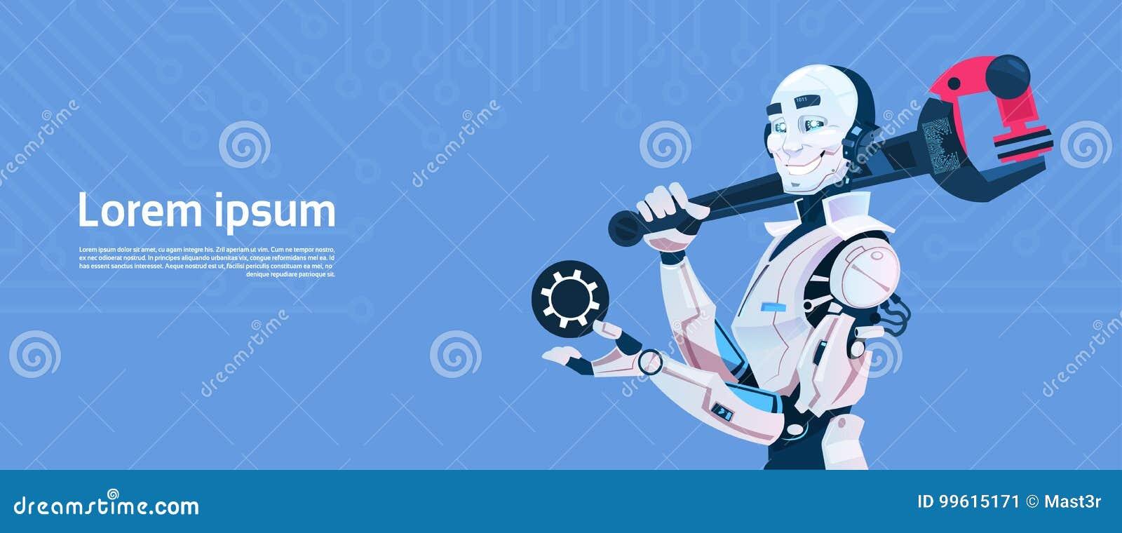 De moderne Moersleutel van de de Greepmoersleutel van de Robotgreep, de Futuristische Technologie van het Kunstmatige intelligent