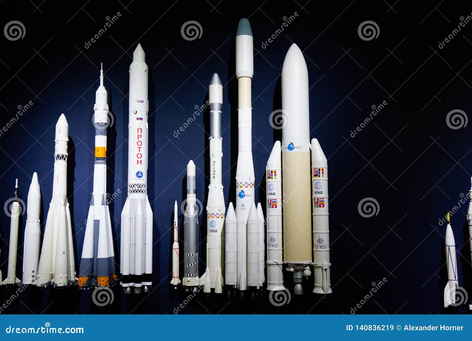 De moderne ruimteontwikkeling van ambachtmodellen van ruimtewetenschap