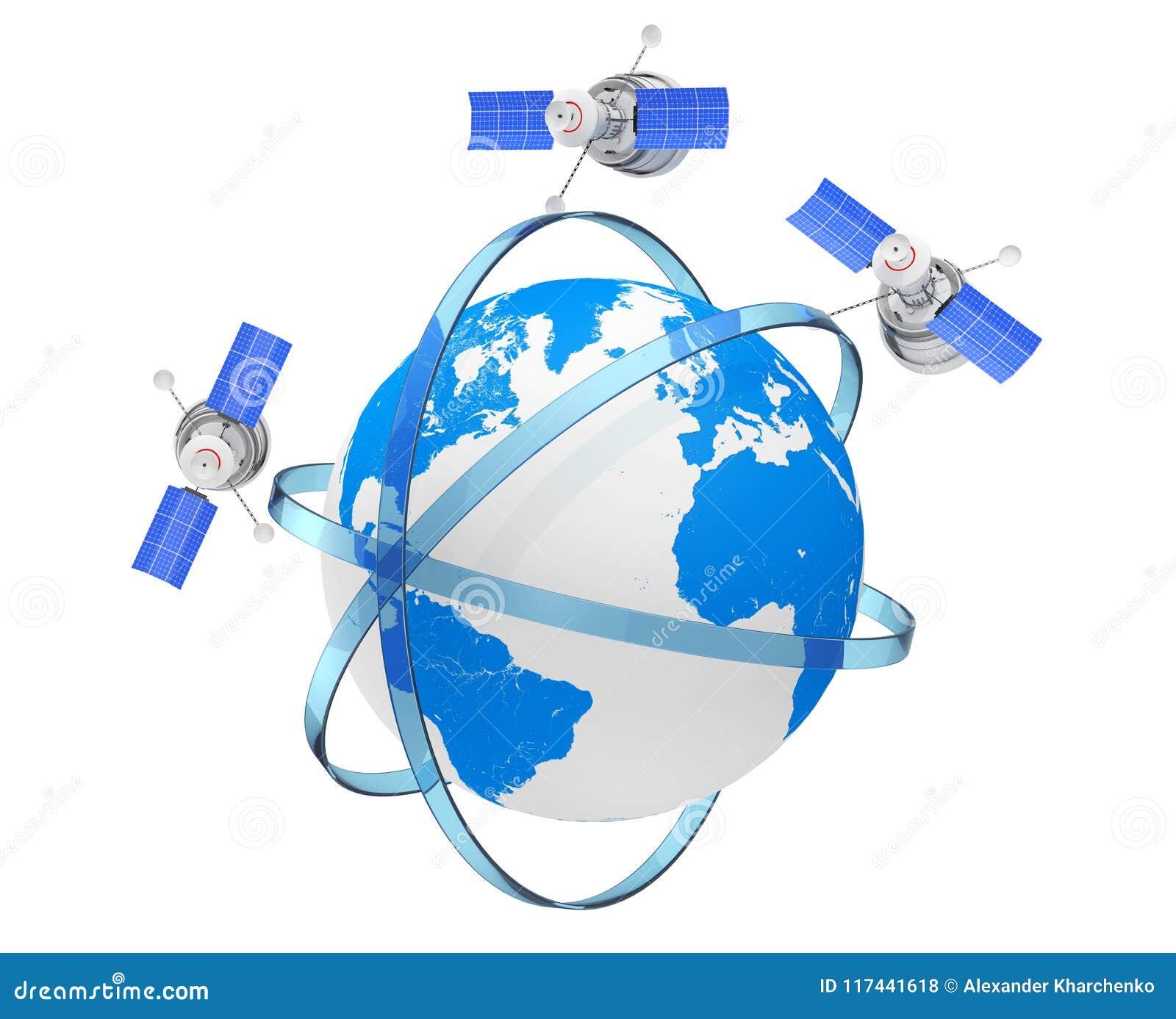 De moderne Satelliet van de Wereld Globale Navigatie in Zonderlinge Banenarou