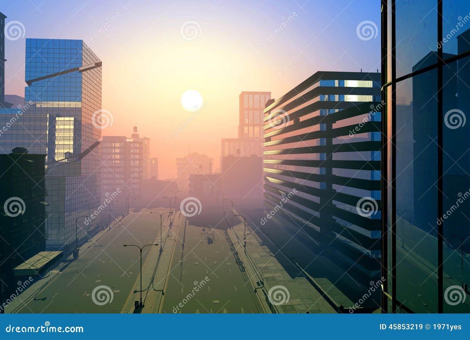 De moderne stad