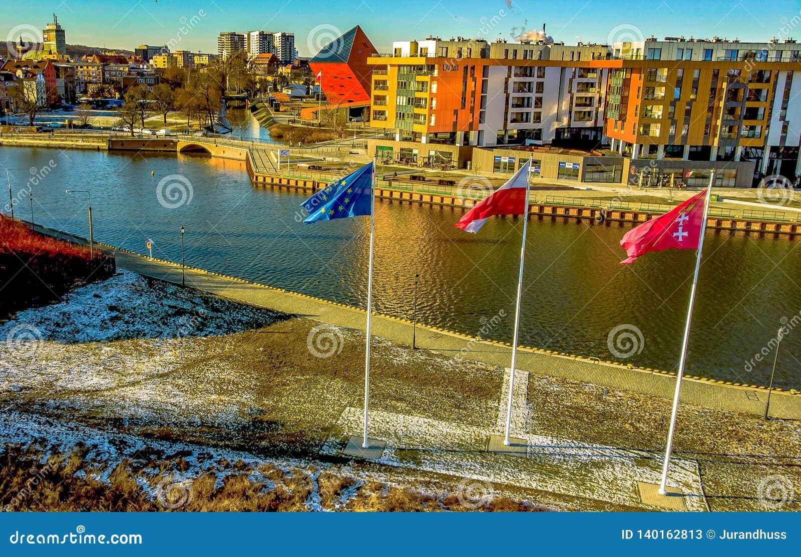 De Moderne Stad van Gdansk