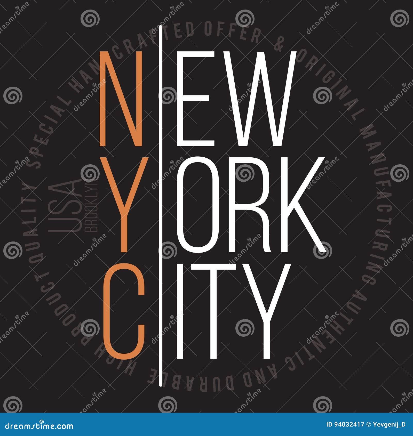 De moderne typografie van New York, Brooklyn voor t-shirtdruk T-shirtgrafiek