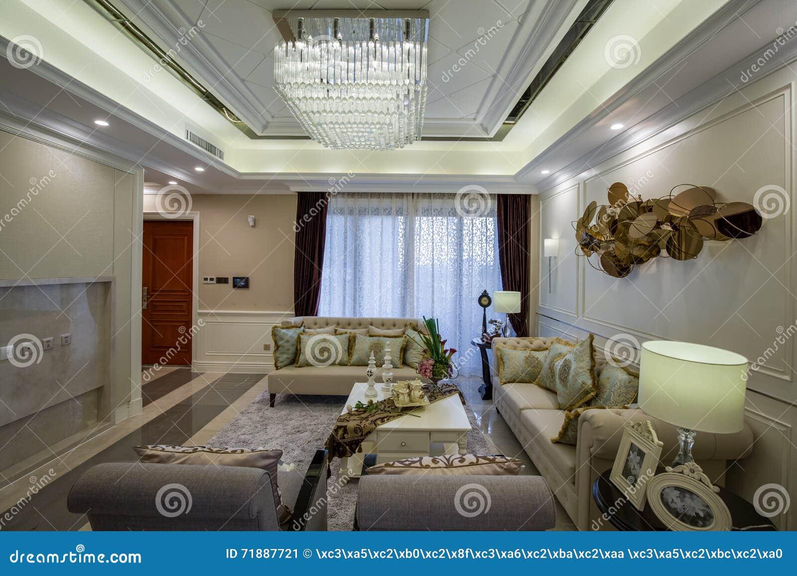 De moderne van de het ontwerpwoonkamer van het luxe binnenlandse