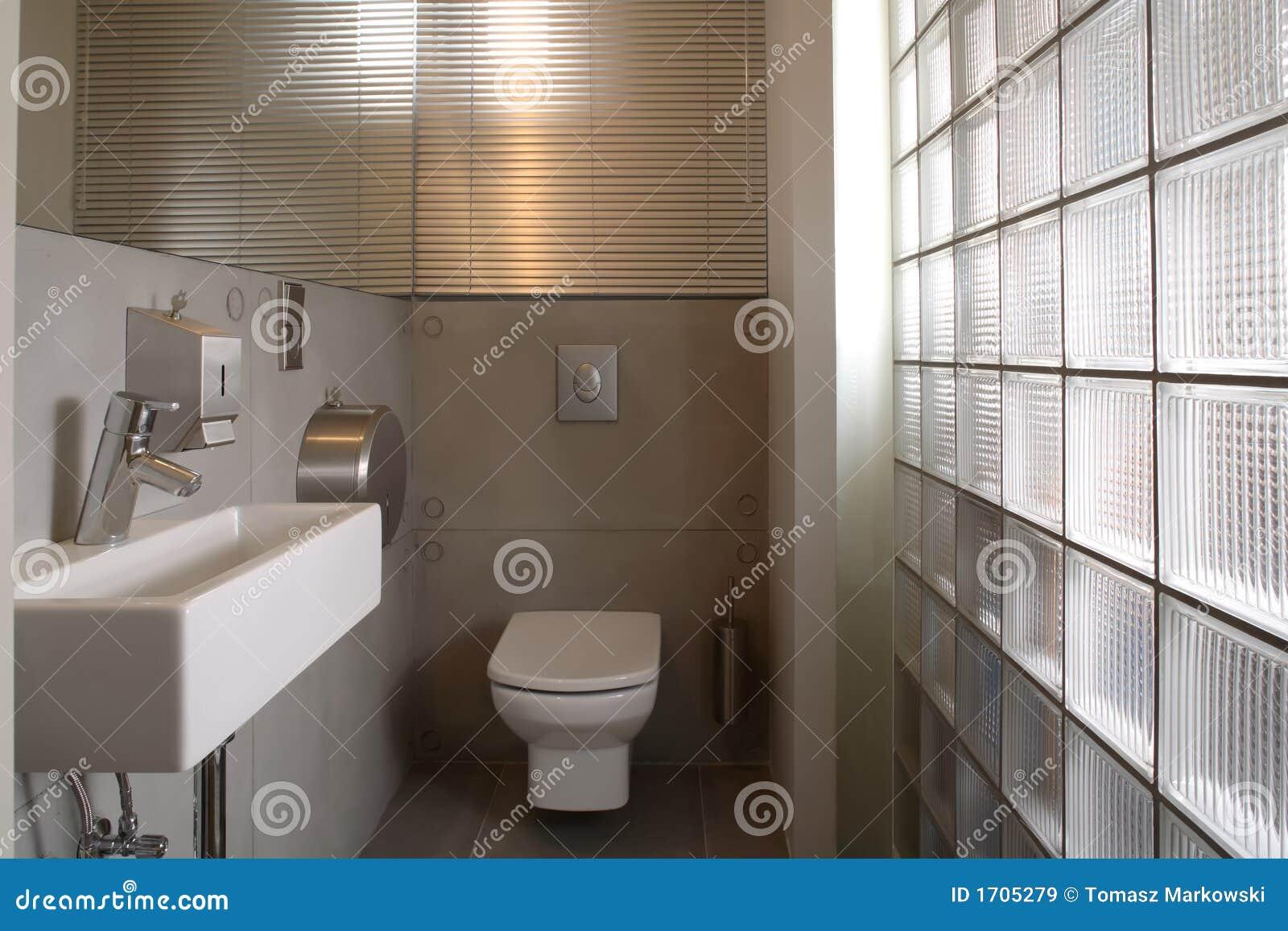 De Moderne Witte Badkamers Van De Luxe Stock Afbeelding - Afbeelding ...