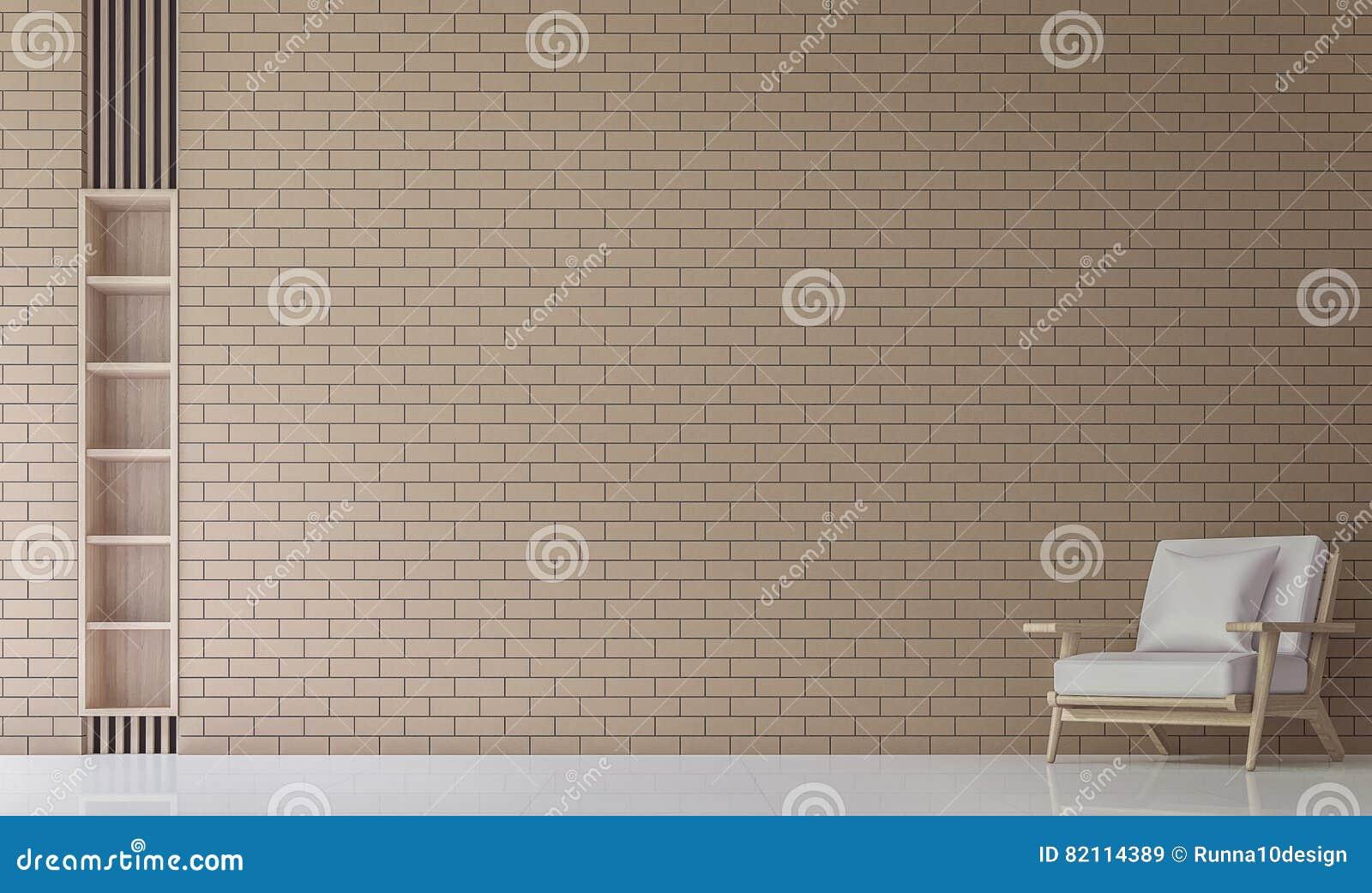 Koraalkleur De Woonkamer : De moderne woonkamer verfraait muur met d teruggevende beeld van