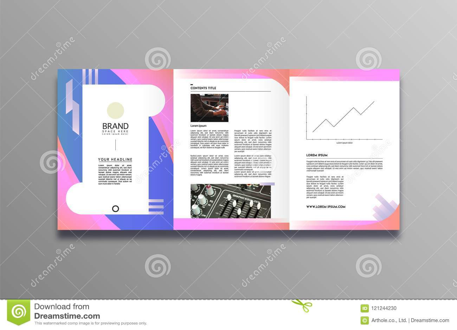 De Modieuze en moderne stijl van het bedrijfsbrochureontwerp