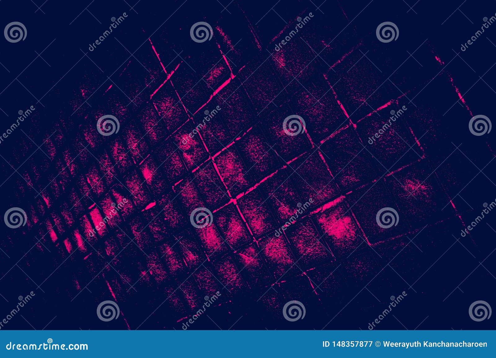 De mooie close-uptexturen vatten tegels en de donker zwart roze achtergrond van de het patroonmuur van het kleurenglas en kunstbe