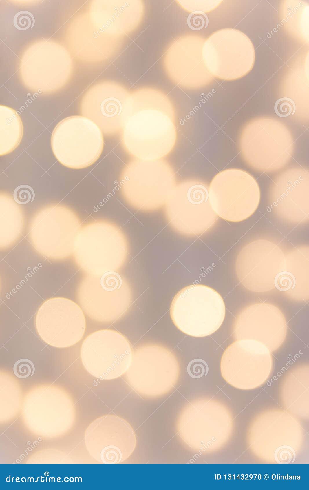 De mooie elegante achtergrond van de pastelkleurvakantie voor de Verjaardagsviering van het Kerstmisnieuwjaar De gouden gloed van