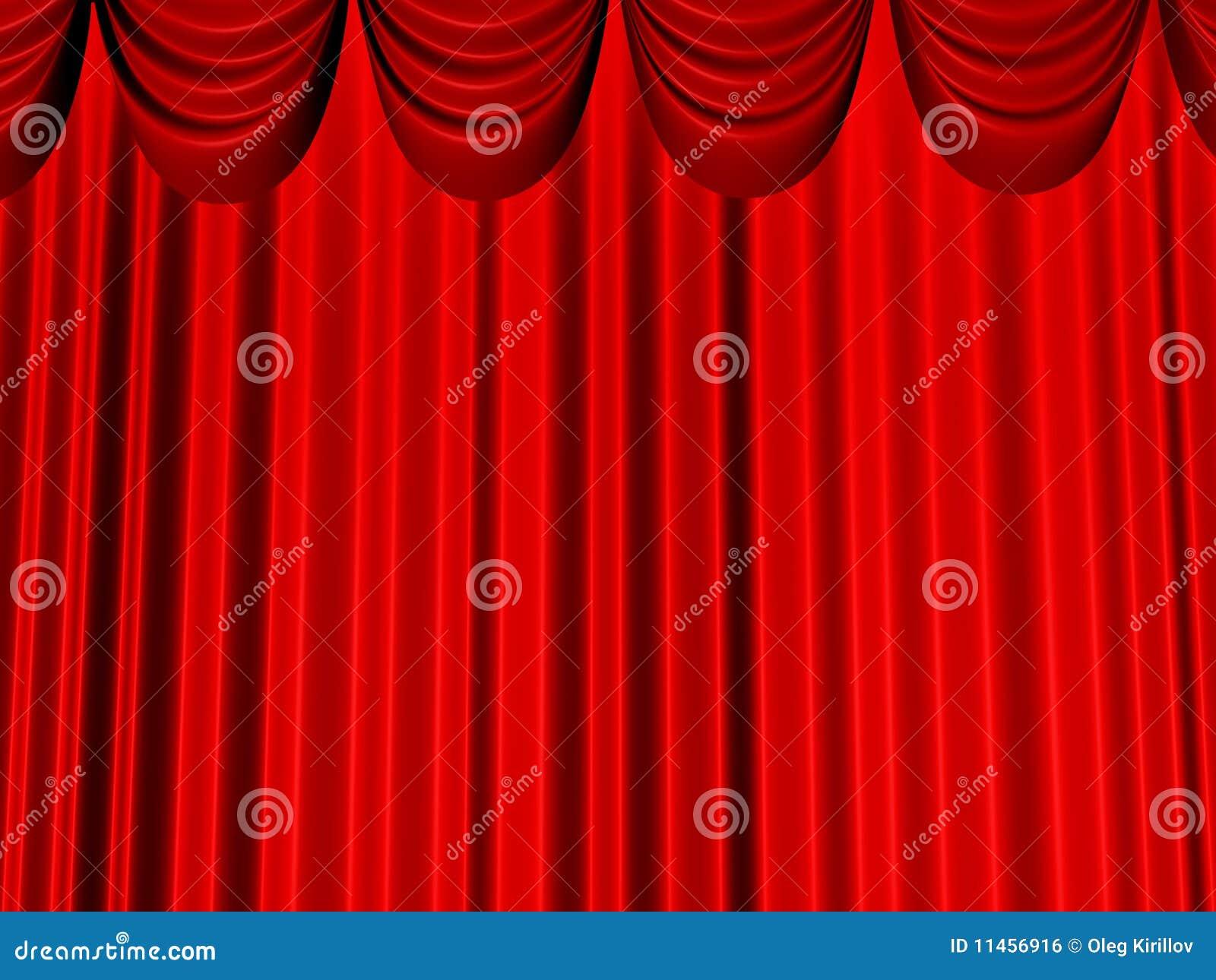 de mooie gordijnen van rood