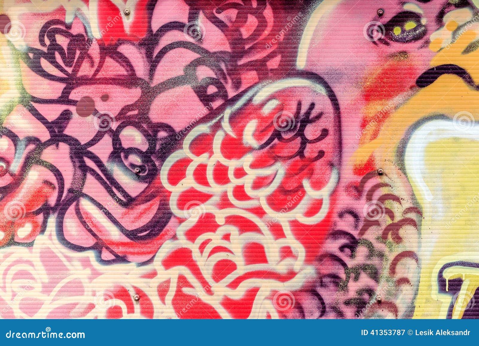 De mooie graffiti van de straatkunst Abstracte creatieve tekeningsmanier